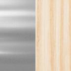 Polished Chrome + Bleached Oak