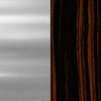 Polished Chrome + Ebony Wood
